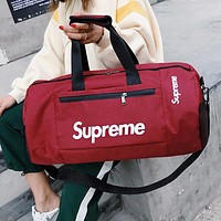 Supreme Luggage Bag Travel Bag Fashion Big Bag Print Tote Handbag Red