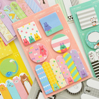 E41 Kawaii Cute Animals Weekly Plan Memo Pads Paper Sticky Notes Scrapbooking Label Decor School Office Supply