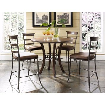 Cameron 5-Piece Counter Height Round Wood Dining With Stool