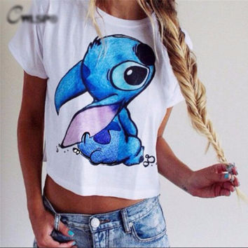 Lilo & Stitch Print Cute T-Shirt