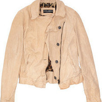 Dolce & Gabbana | Washed-leather motocross jacket | NET-A-PORTER.COM