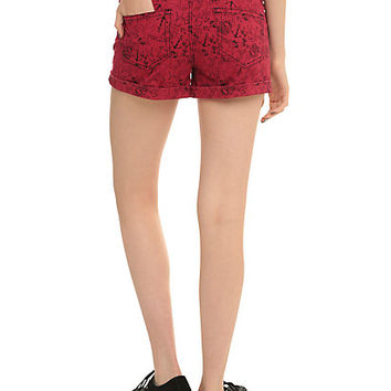 LOVEsick Red Pin-Up High-Waisted Shorts