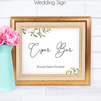 Wedding Bar Sign PDF Template Candy Cigar Cookie