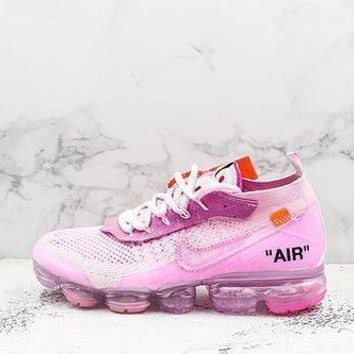 Off White X Nike Air Vapormax Flyknit 2.0 Pink