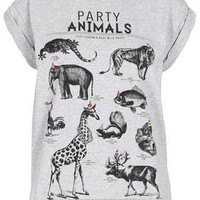 Petite Animal Motif Tee - New In This Week  - New In