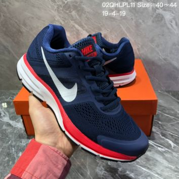 hcxx N1218 Nike Air Zoom Pegasus 30 Breathable Running Shoes Blue Red White