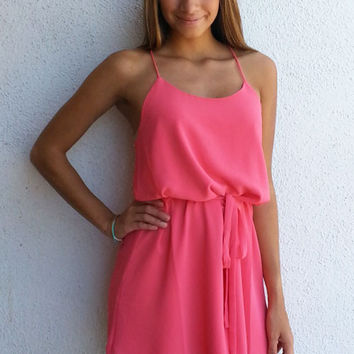 Summer Breeze Dress - Watermelon