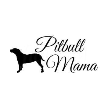 Pitbull Mama Sticker