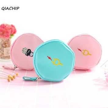 QIACHIP Cartoon Earphone earpiece Wire Box Organizer Data Line Cables Storage Container Case Earbuds SD Card Box Coin Purses
