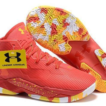 Under Armour Curry Top Gun Red Basketball Shoes