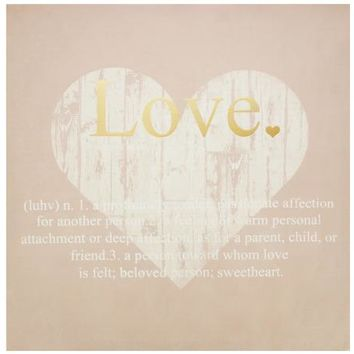 Love Definition Canvas Wall Art Print ( Case of 1 )