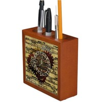 Grunge Steampunk Clocks and Gears Desk Organizers