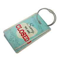 Sorry We Are Closed Vintage Luggage Tag Set