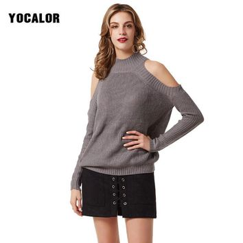 2017 Autumn Off The Shoulder Best Sweater Long-sleeved Women Jersey Sweaters And Pullovers Tricot Women's Blouse Winter Knitting