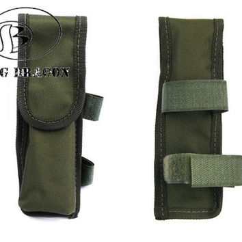 Portable Molle Pouch Holder Universal Durable Nylon Airsoft Tactical Military Paintball Battery Pouch For Flashlight Battery