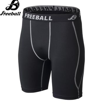 New Men Gym Clothing Compression Soccer Running Shorts Sports Fitness Basketball Tights short Leggings Spandex Elastic Quick Dry