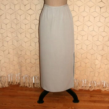 a77847826c Dove Gray Skirt Silk Maxi Skirt Grey Silk Skirt Long Skirt Dress