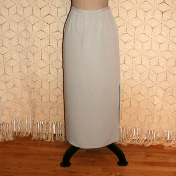 Dove Gray Skirt Silk Maxi Skirt Grey Silk Skirt Long Skirt Dressy Skirt Eileen Fisher Size 6 Skirt Size 8 Skirt Small Medium Womens Clothing