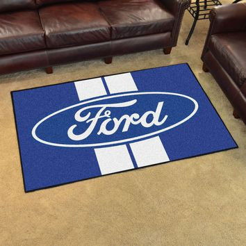 Ford Oval with Stripes 4'x6' Rug