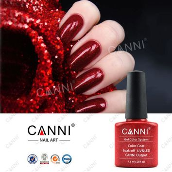 Popular ! 1 PC High Quality Canni gel polish LED/UV /Soak off colors polish gel 206colors can choose 7.3ML 198-206