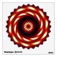 Fire Moon Mandala Wall Sticker