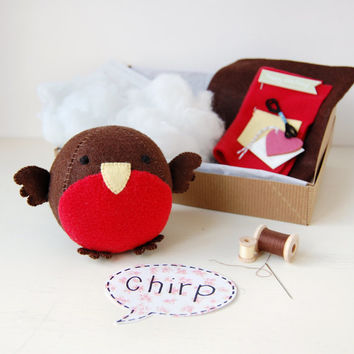 Make Your Own Robin Fattie Toy Kit - Sewing Kit