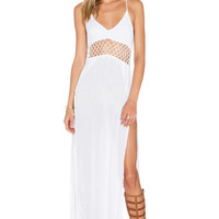 Indah Ulima Maxi Dress in White