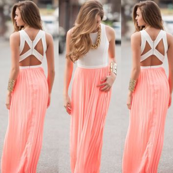 Pretty Maxi Floor Length Party Dress