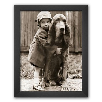 Art.com ''Girl's Best Friend'' Framed Art Print (Grey)