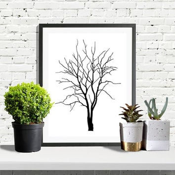 Scandinavian Print, Scandinavian, Tree Print, Scandinavian Poster, Modern Poster, Geometric Art, Tree Poster, Black and White