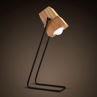 Simple Fashion Personality Wood Desk Lamp Coffee Decorative Lamp Study Reading Table Lamp Wooden Desk Light
