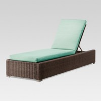 Heatherstone Wicker Patio Chaise Lounge - Threshold™