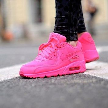 Best Online Sale Nike Air Max WMNS 90 Gs Hpyer Pink Running Shoes Sport Shoes 345017