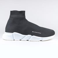 100% AUTH NEW Unisex Balenciaga Knit Speed Sock Grey Trainer Sneaker Runner