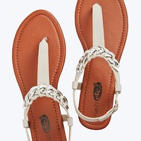 Interlock Chain T-Strap Sandal
