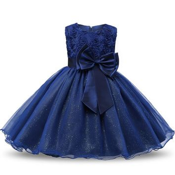 Sequin Toddler Baptism Baby Girls New Dress for First Birthday Party Christening Gown Princess Kids Dresses Children Clothes