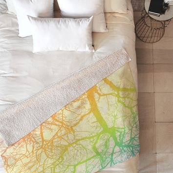 Shannon Clark Bright Branches Fleece Throw Blanket