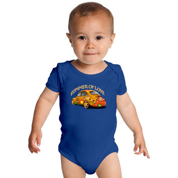 Summer Of Love Baby Onesuits