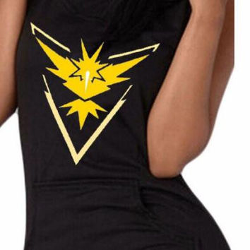 Pokemon Go Pokemon Print Hooded Tank Top 12599