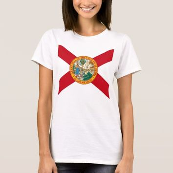 Women T Shirt with Flag of Florida State