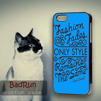 Choco Chanel Qoute - iPhone cases 4/4S Case iPhone 5/5S/5C Case Samsung Galaxy S3/S4 Case