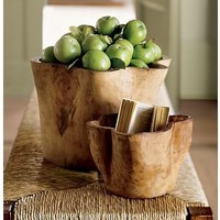 Hand-Carved Wood Vessel | Pottery Barn
