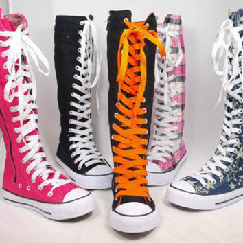 converse long boots