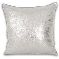 Metallic 18x18 Pillow, Silver