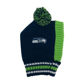 LMFON Seattle Seahawks Pet Knit Hat
