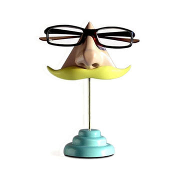 3ced23441c60 Nose Eyeglass Stand Blond Moustache by ArtAkimbo on Etsy
