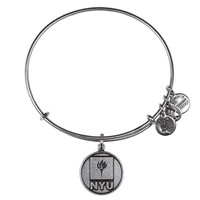 Alex and Ani New York University Logo Charm Bangle - Russian Silver
