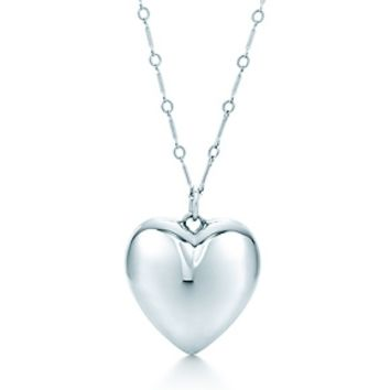 Tiffany & Co. -  Ziegfeld Collection heart pendant in sterling silver, large.