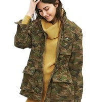 Banana Republic Womens Camo Military Jacket