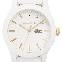 Men's Lacoste '12.12' Watch, 43mm - White